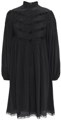 Zimmermann Lace-trimmed Silk Crepe De Chine Mini Dress