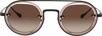 Giorgio Armani Round Aviator-Frame Sunglasses