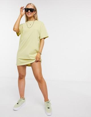 Nike mini swoosh oversized t-shirt dress in mint green
