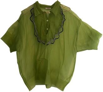 Miu Miu Green Top for Women Vintage