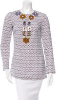 Tory Burch Printed Embellished Tunic