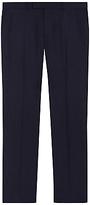 Jaeger Herringbone Super 130s Wool Regular Fit Suit Trousers, Navy