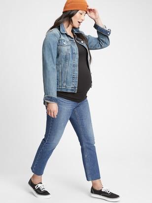 Gap Maternity True Waistband Cheeky Straight Jeans