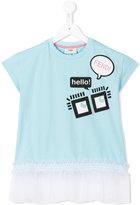 Fendi eyes print T-shirt - kids - Cotton/Spandex/Elastane/Polyamide - 2 yrs