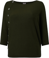 Phase Eight Natka Button Jumper, Olive