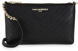 Karl Lagerfeld Paris Charlotte Leather Crossbody