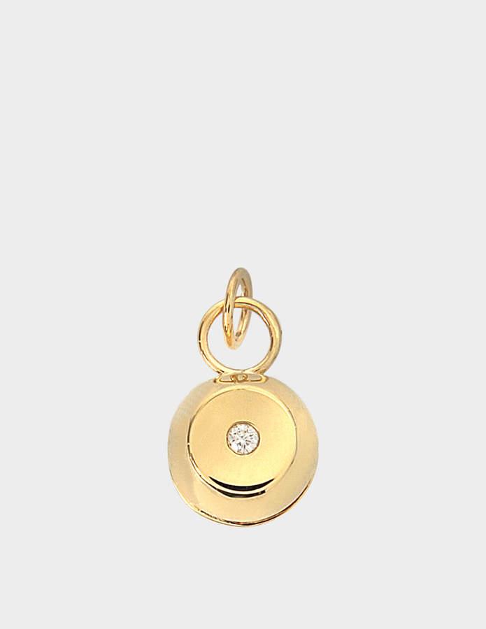Aurelie Bidermann Telemaque Bell pendant 750/1000th Yellow Gold with diamond