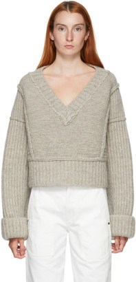 Jacquemus Grey La Maille Cavaou V-Neck Sweater