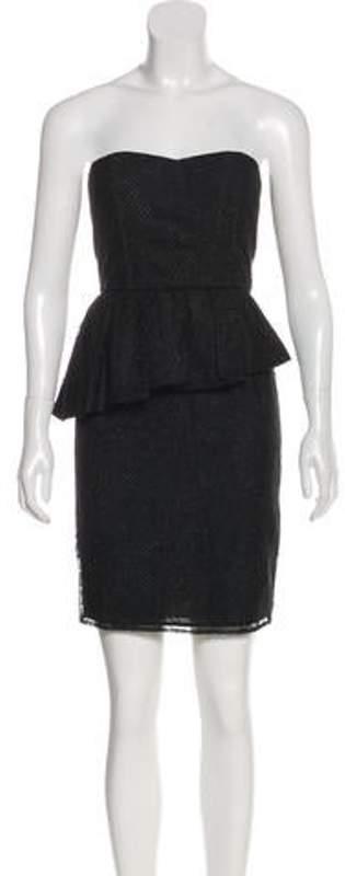 Alice + Olivia Jessie Peplum Lace Dress Black Jessie Peplum Lace Dress