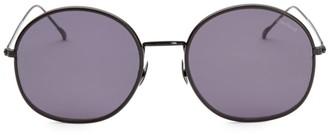 Illesteva Alina Leather 58MM Round Sunglasses