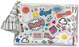 Anya Hindmarch stickers clutch