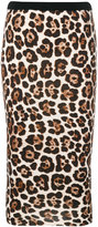 MICHAEL Michael Kors leopard print pencil skirt