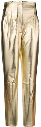 Alberta Ferretti High Waisted Slim Fit Trousers