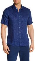 Toscano Short Sleeve Polka Dot Linen Regular Fit Shirt