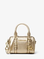 MICHAEL Michael Kors Bedford Legacy Extra-Small Metallic Leather Duffle Crossbody Bag