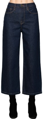 Frame Wide Leg Cotton Denim Jeans