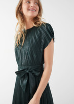 And other stories Metallic Pleated Maxi Dress