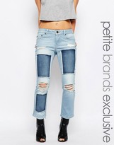 Noisy May Petite Scarlet Patched Jean