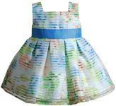 Youngland Baby Girl Striped Pleated Dress
