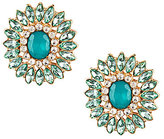 Natasha Accessories Pave Flower Stud Earrings