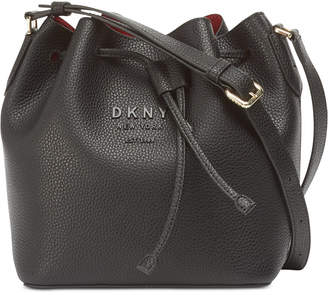 DKNY Noho Leather Drawstring Bucket Bag