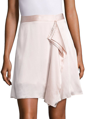 Public School Gina Draped Silk Skirt