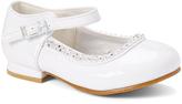 White Rhinstone-Studded Mary Jane