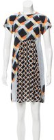 Suno Printed Pleated Dress
