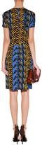 Issa Denim Blue/Honey Zebra Print Side Drape Dress