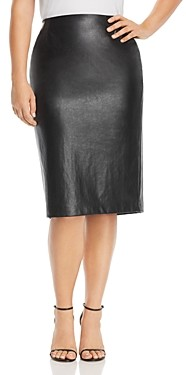 Marina Rinaldi Centrale Faux-Leather Skirt