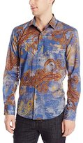 Bugatchi Men's Luciano Long Sleeve Shaped Button Down Shirt