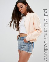 Noisy May Petite Pu Bomber Jacket