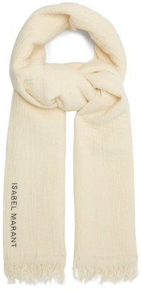 Isabel Marant Alfie Wool-blend Scarf - White