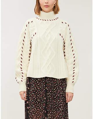 BA&SH Eba cable knit wool-blend jumper