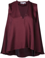08sircus V-neck flared top - women - Polyester - 36