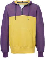 Sacai colour blocked hoodie
