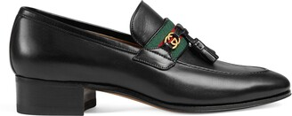 Gucci Women's loafer with Web and Interlocking G
