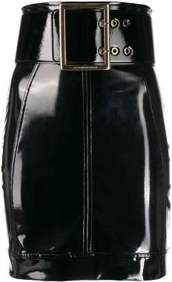 Elisabetta Franchi belted vinyl skirt