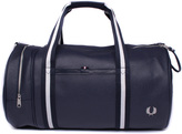 Fred Perry Scotchgrain Navy Leather Barrel Bag