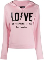 Love Moschino Love print hoodie