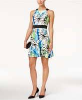 Jessica Howard Petite Printed Halter Fit & Flare Dress