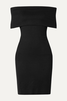 Rosetta Getty Off-the-shoulder Stretch-jersey Dress - Black