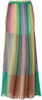 M Missoni long metallic knit stripe skirt