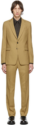 Dries Van Noten Beige Wool Suit