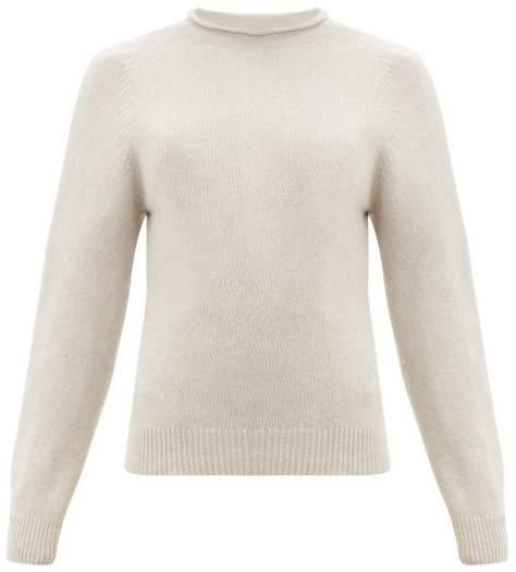Margaret Howell Rolled Neckline Cotton-blend Sweater - Womens - Beige
