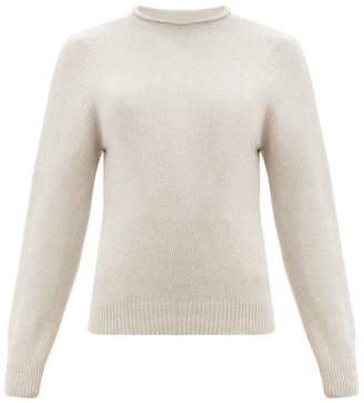 Margaret Howell Rolled Neckline Cotton-blend Sweater - Womens - Beige