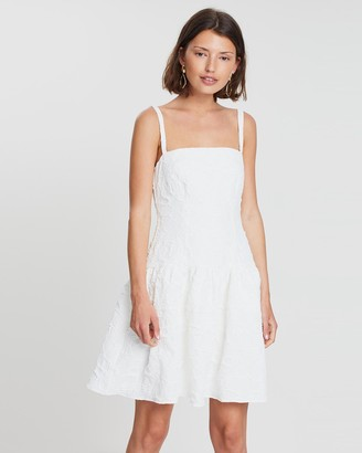 FRIEND of AUDREY - Women's White Mini Dresses - Allix Mini Dress - Size One Size, 6 at The Iconic