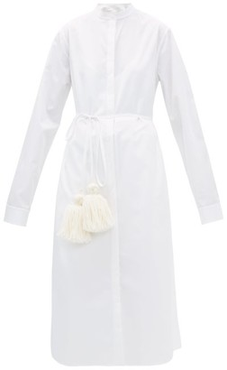 Jil Sander Cotton Pyjama Shirtdress - Womens - White
