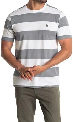 Original Penguin Short Sleeve Knit Rugby Stripe Print T-Shirt