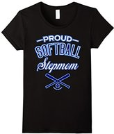 Women's Proud Softball Stepmom T-Shirt (USA) Large